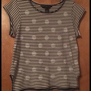 MBMJ Navy & White Willa Dot shirt Large
